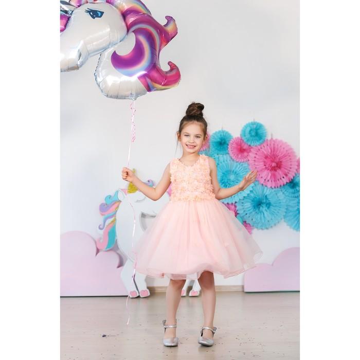 Платье нарядное для девочки MINAKU «Фея», рост 128 см, цвет розовый