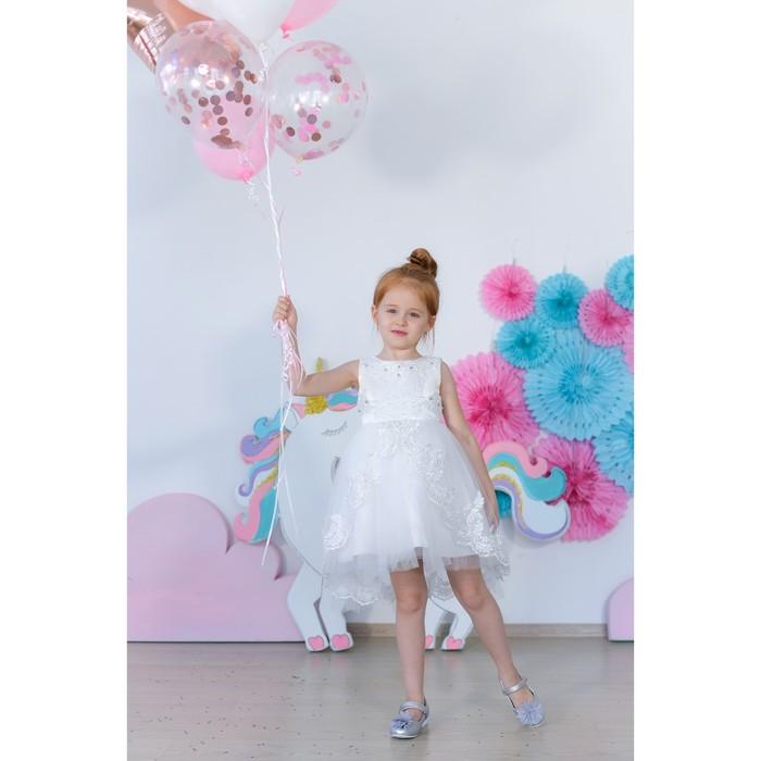 Платье нарядное для девочки MINAKU «Жасмин», рост 122 см, цвет белый