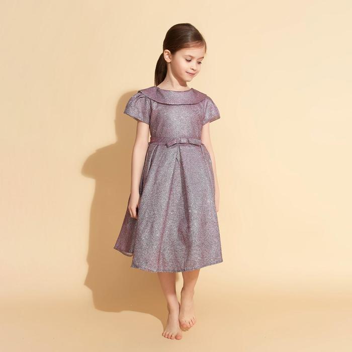 Платье нарядное для девочки MINAKU «Жаклин», рост 134 см, цвет фиолетовый