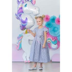 Платье нарядное для девочки MINAKU «Офелия», рост 110 см, цвет голубой/серебро