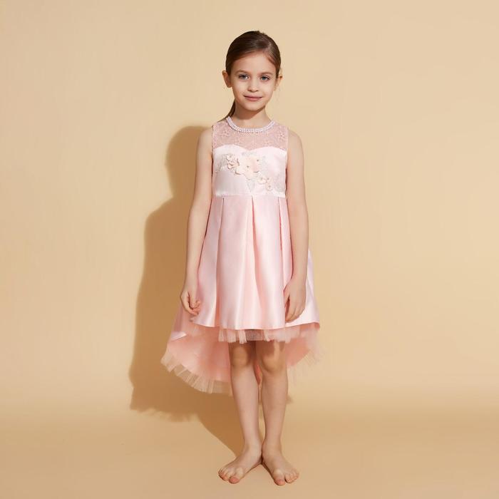 Платье нарядное для девочки MINAKU «Джульетта», рост 128 см, цвет розовый - фото 726791837