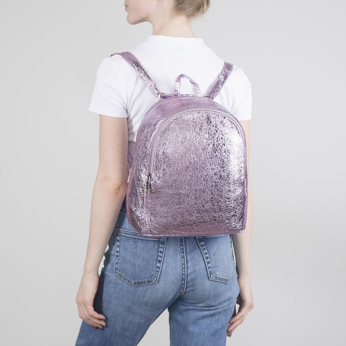 Рюкзак молодёжный, 2 отдела на молниях, наружный карман, цвет розовый