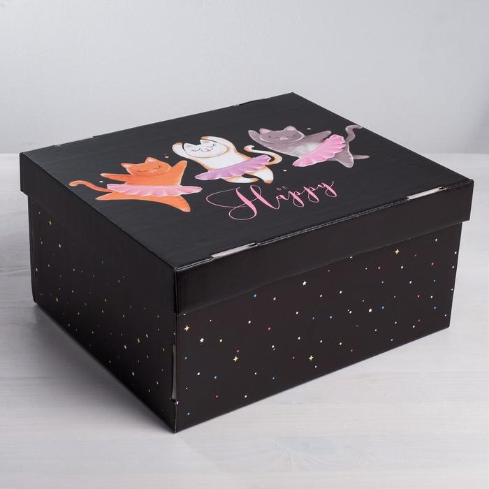 Складная коробка «Котики», 28 × 23 × 15 см