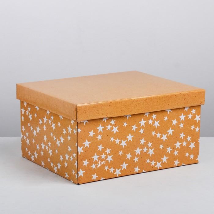 Складная коробка «Звёзды», 28 × 23 × 15 см - фото 128207126