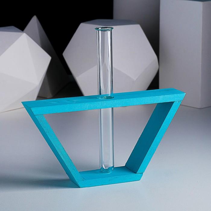 "Рамка-ваза ""Кораблик"", 22 х 11,5 см, бирюзовый"