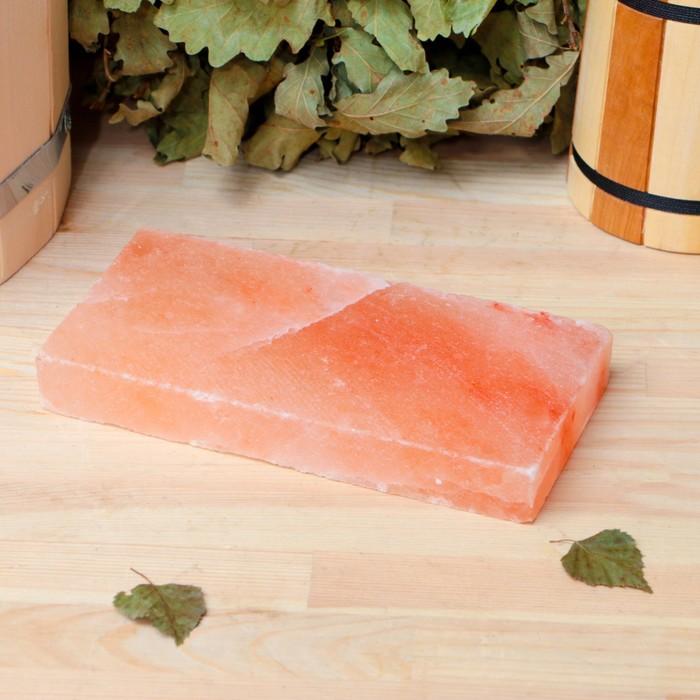 """Плитка из гималайской соли, шлифованная, 20х10х2,5 см, """"Добропаровъ"""""""