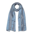 Шарф женский 12-2 09-2 цвет синий, р-р 27х150
