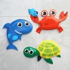 Игрушки для купания «Морские приключения», набор 3 шт. - фото 105536212