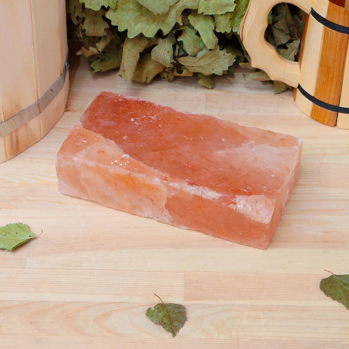 Кирпич из гималайской соли 20х10х5см