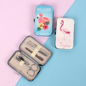 """Set manicure """"Flamingo"""", 5 pieces, colour and pattern MIX"""