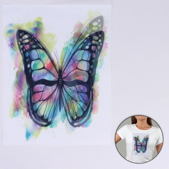 Пришивная аппликация «Бабочка», 3D, 27 × 20 см - фото 700565041