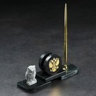 "Set table ""Owl"", with the coat of arms, serpentine"
