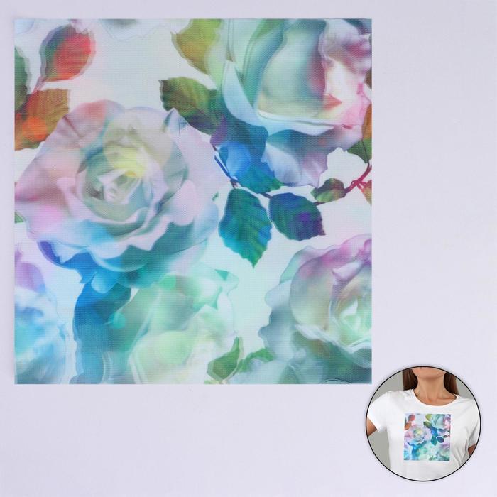 Пришивная аппликация «Розы», 3D, 24 × 24 см - фото 690483