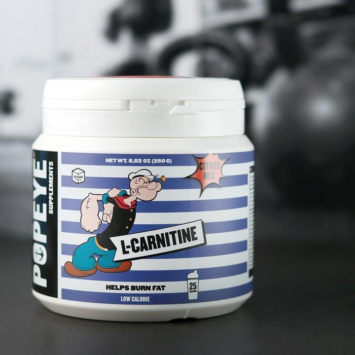 L-Карнитин POPEYE Supplenments, цитрусовый микс, 250 г