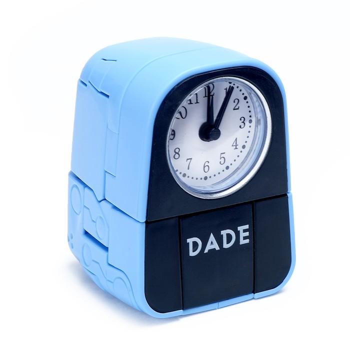 Трансформер-часы «Щенок», трансформируется в будильник, работает от батареек