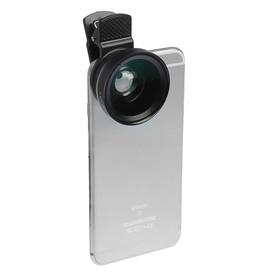 Широкоугольный макрообъектив-линза для телефона 2 в 1, 0.45Х, 37 мм, чёрный Ош