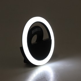 Led selfie ring for your AKS-06, 3 modes, 80 mAh, clothespin, black