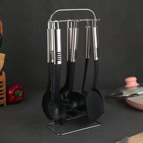 Набор кухонных принадлежностей «Фидель», 6 предметов, на подставке