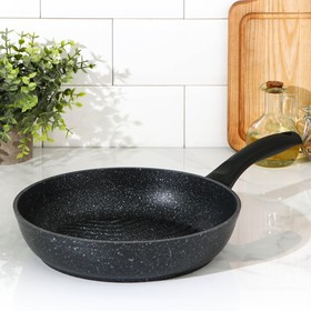 26 cm grill pan with handle, non-stick coating, dark marble