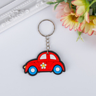 "Keychain rubber ""Fun car"" MIX 3,8x5,4 cm"
