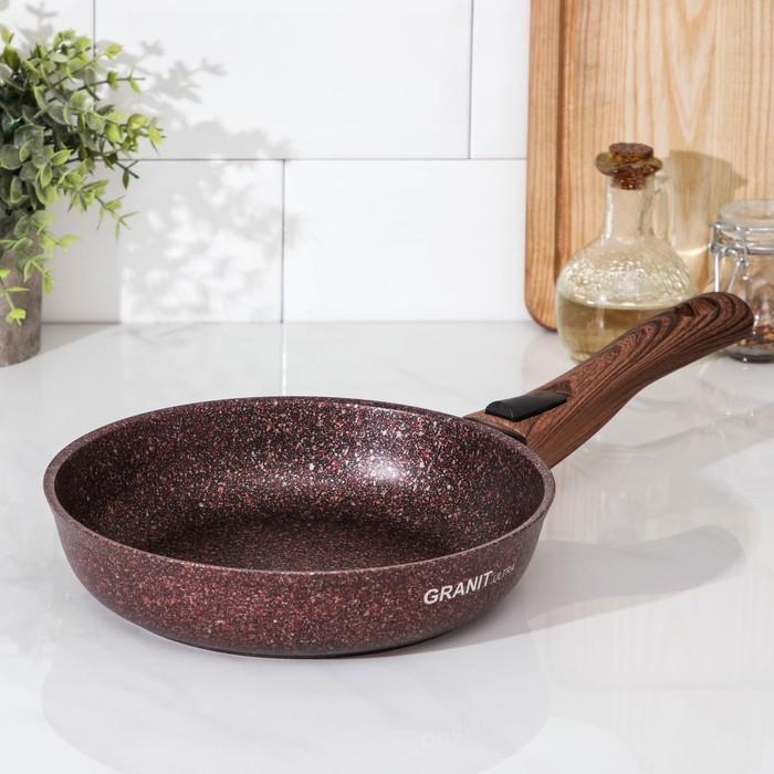 """Сковорода 22 см """"Granit ultra"""" (red), со съемной ручкой, антипригарное покрытие"""