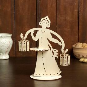 Салфетница «Крестьянка с ведрами», 24×18×0,3 см