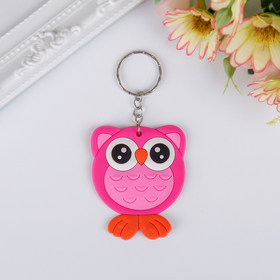 """Keychain rubber """"rectangle bright"""" MIX 6,2x5 cm"""