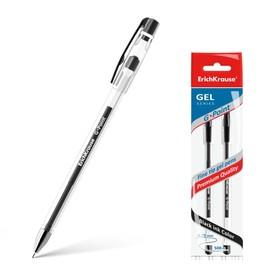 Набор ручек гелевых 2 штуки G-Point, узел-игла 0.38 мм, чернила чёрные, длина линии письма 500 метров, европодвес