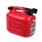 Канистра 3ton PROFI,  КРАСНАЯ для топлива + крышка и лейка, 5 л
