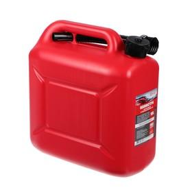 Канистра 3ton PROFI,  КРАСНАЯ для топлива + крышка и лейка, 10 л Ош