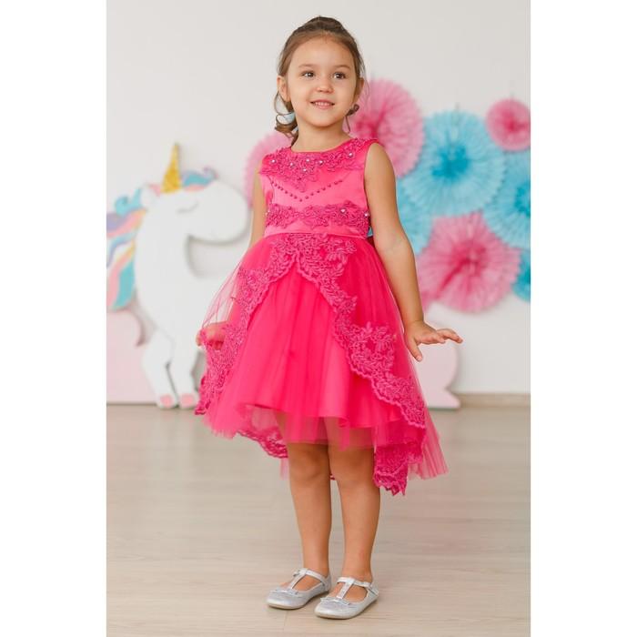 Платье нарядное для девочки MINAKU «Жасмин», рост 110 см, цвет фуксия