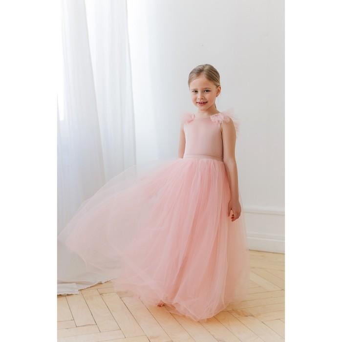 Платье нарядное для девочки MINAKU «Зефирка», рост 116, цвет розовый