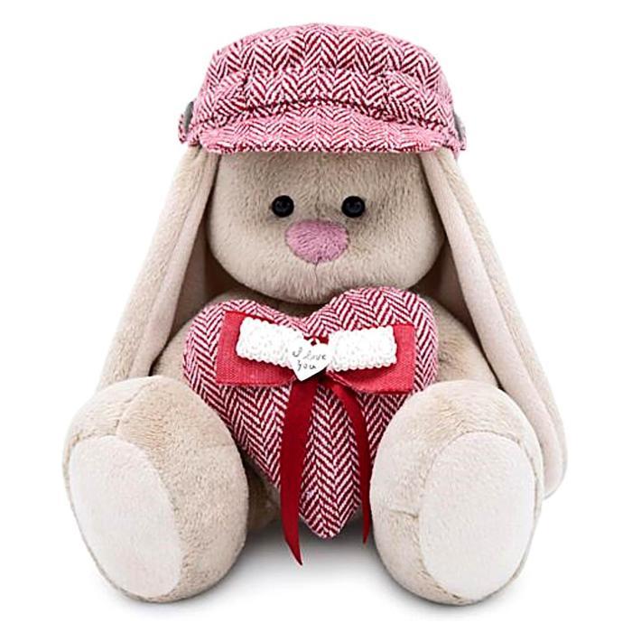 Мягкая игрушка «Зайка Ми» в кепке, с сердцем, 18 см