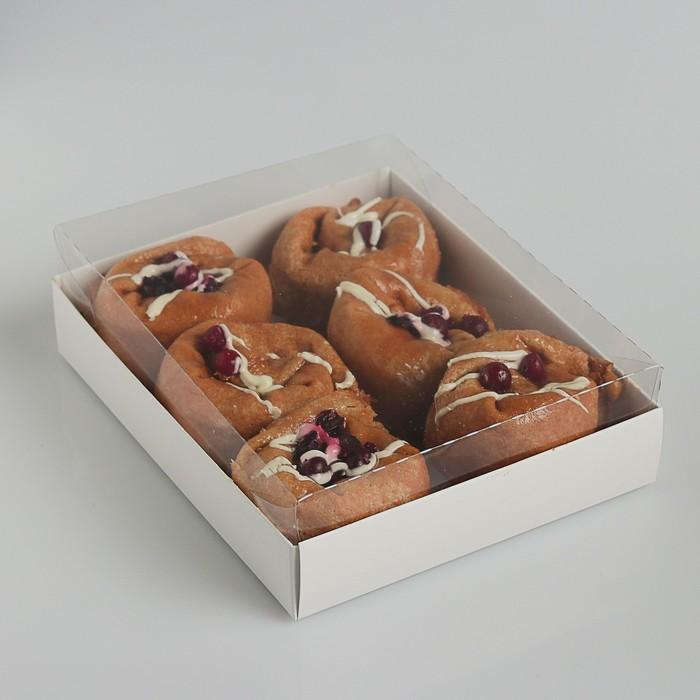 Коробочка для печенья с прозрачной крышкой 16 х 13 х 3 см - фото 308035694
