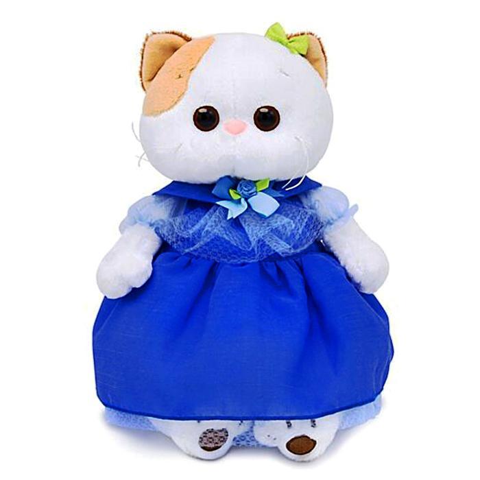 Мягкая игрушка «Кошечка Ли-Ли» в синем платье, 27 см - фото 729887179