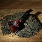 Трубка классическая фигурная, тёмно-красная 14 см