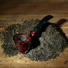Tube classic curly, dark red 14 cm