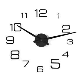 """Часы-наклейка DIY """"Мита"""", чёрные,(+механизм) 120 см"""