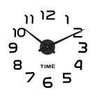 """Часы-наклейка DIY """"Элегант"""", чёрные, 120 см"""