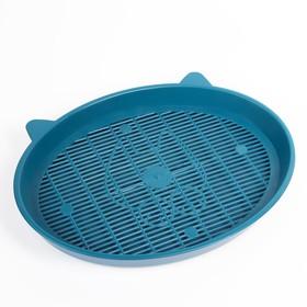 """Туалет с сеткой """"Киса"""", 37 х 27 х 4 см, синий"""