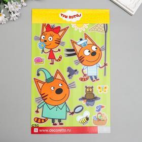 "Наклейки Decoretto ""Три кота: Коржик и Карамелька"" 35х25 см"