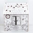 """Дом из картона """"Дом-раскраска"""", СМЕШАРИКИ - фото 105629599"""