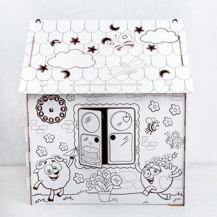 Дом из картона Дом-раскраска , СМЕШАРИКИ - РусЭкспресс