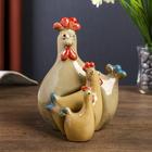 "Сувенир керамика ""Семейство курочек"" набор 3 шт 16х12х10 см"