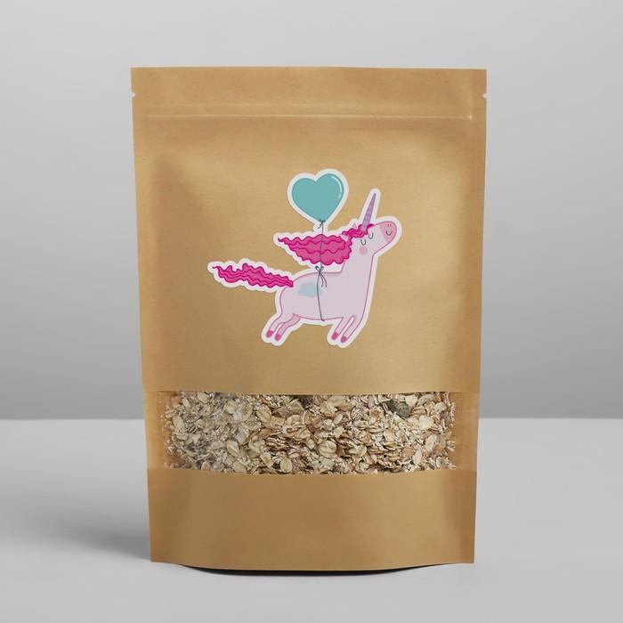 Пакет крафтовый без ручек с зип локом «Воздушное чудо», 26 × 18 × 4 см - фото 183163959