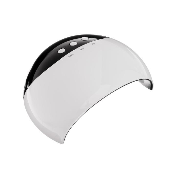 Лампа для гель-лака LuazON LUF-18, LED, 24 Вт, 8 диодов, таймер 60/90/120 сек, USB, белая