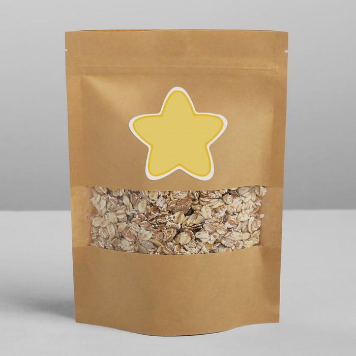Пакет крафтовый без ручек с зип локом «Что‒то полезное», 20 × 14 × 4 см - фото 228889300