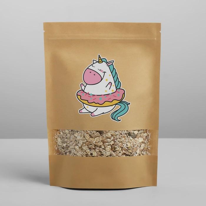 Пакет крафтовый без ручек с зип локом «Сладкое волшебство», 26 × 18 × 4 см - фото 157915828