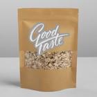 Пакет крафтовый без ручек с зип локом Good taste, 20 × 14 × 4 см