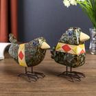 """Сувенир керамика """"Смешные птички"""" набор 2 шт 13х11,5х5,5 см"""